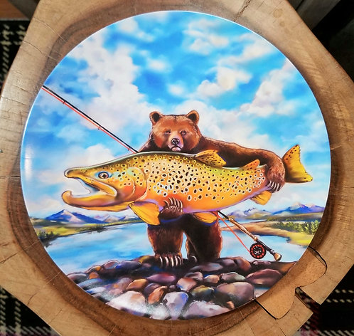 """Big Browns"" 10 inch diameter Plate"