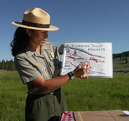 Mimi Matsuda, National Park Ranger Naturalist, Yellowstone River, Yellowstone National Park