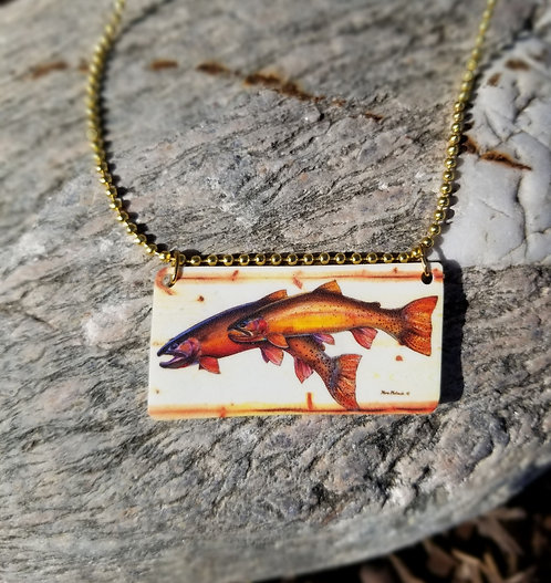 Yellowstone Cutthroat Couple necklace
