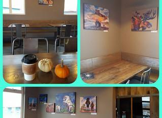 Fall Art Show at Ghost Town Coffee Roasters, Bozeman, Montana