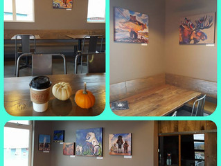 Fall Art Show at Ghost Town Coffee Roasters, Bozeman, Montana