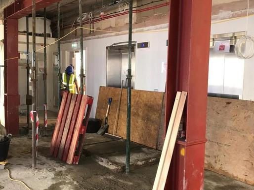 Wall Demolition & Steel Frame installation