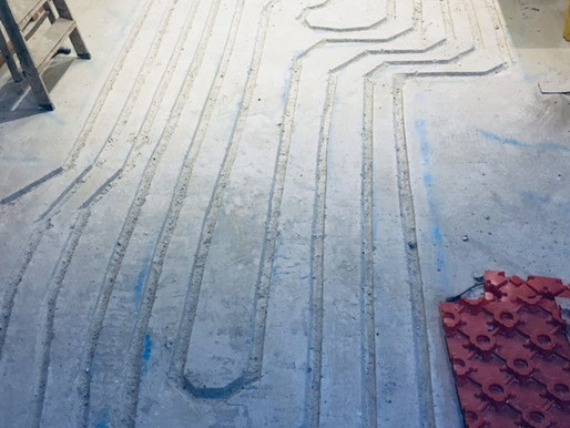 Underfloor Heating Chases for a domestic customer