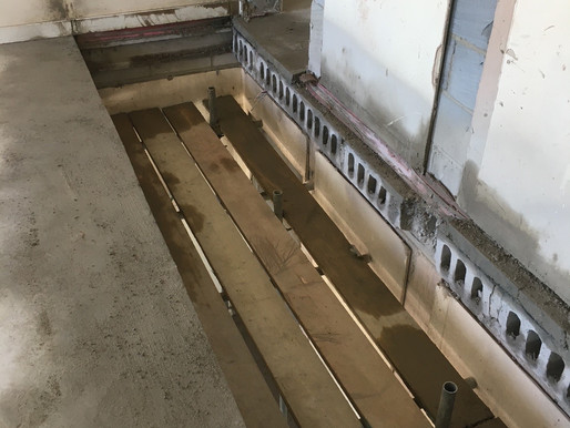 Forming Opening for staircase installation