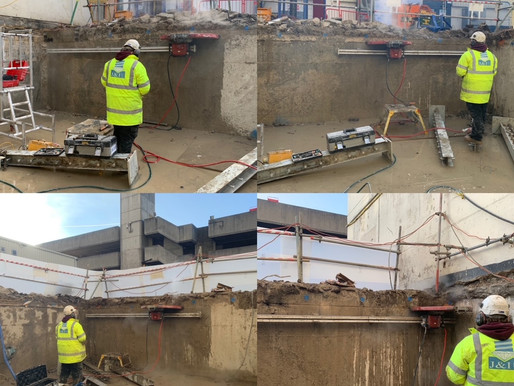 Reduction of bund wall with Hilti TS-20 Track Saw