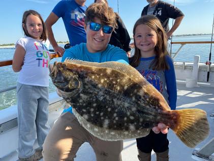 Kids Fluke Fishing On The Island Princes