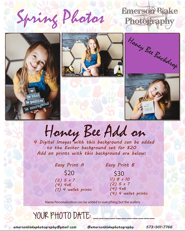 Spring Ad for Photos Honey Bee Add On -
