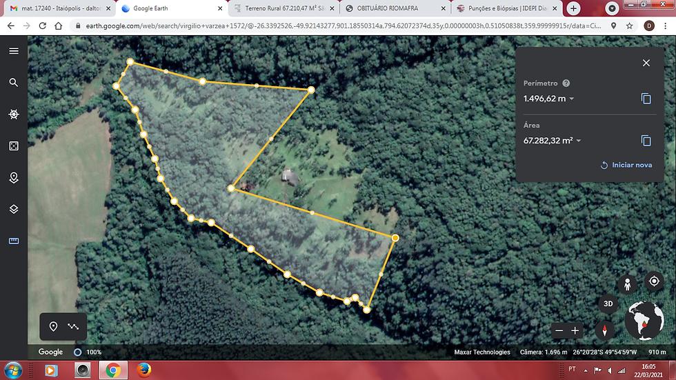 Terreno Rural 67.210,47 M² São Lourenço Município de Itaiópolis SC