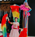 Stilt Walker + Silk Fans.jpg