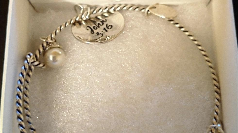 Jesus Loves Me Charm Bracelet