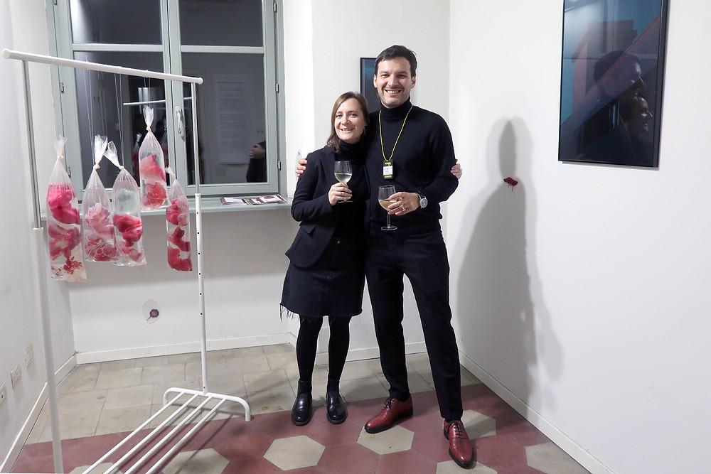 Natalia Grezina with gallery owner Alexey Shifman