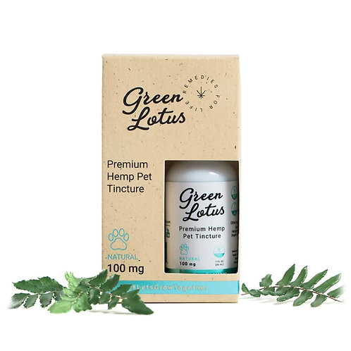 Green Lotus Pet Oil Tincture 100 MG