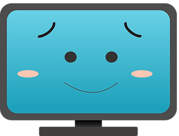 Happy Computer Monitor Clipart