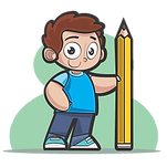 Boy With Pencil Clipart