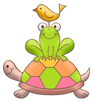 Turtle Frug Bird Clipart