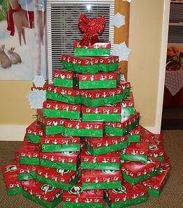 Operation Christmas Child Shoebox Tree