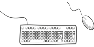 Mouse and Keyboard Clipart