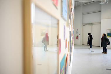 """Vue de """"Sans titre (assemblage de chutes #1)"""" lors de l'exposition collective """"Démesures variables"""" aux Passerelles de Pontault-Combault"""