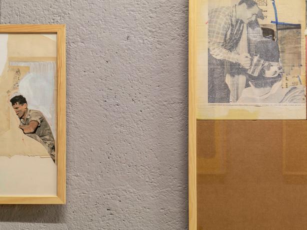 """Vue de l'exposition """"Collage"""" à l'atelier Prisme à Nantes en ocobre 2019"""