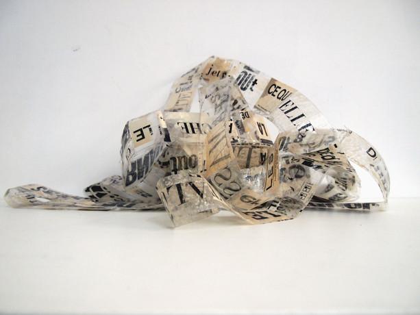 Bande de ruban adhésif et papier déchiré, 5cm x 6,5m, Nantes, 2019