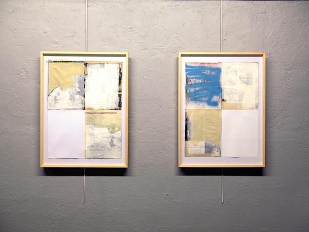 """Vue de l'exposition """"Collages"""""""