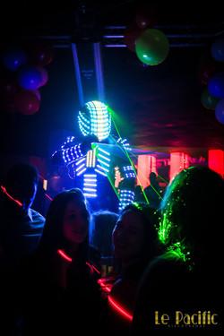 Robot led laser lumineux troyes