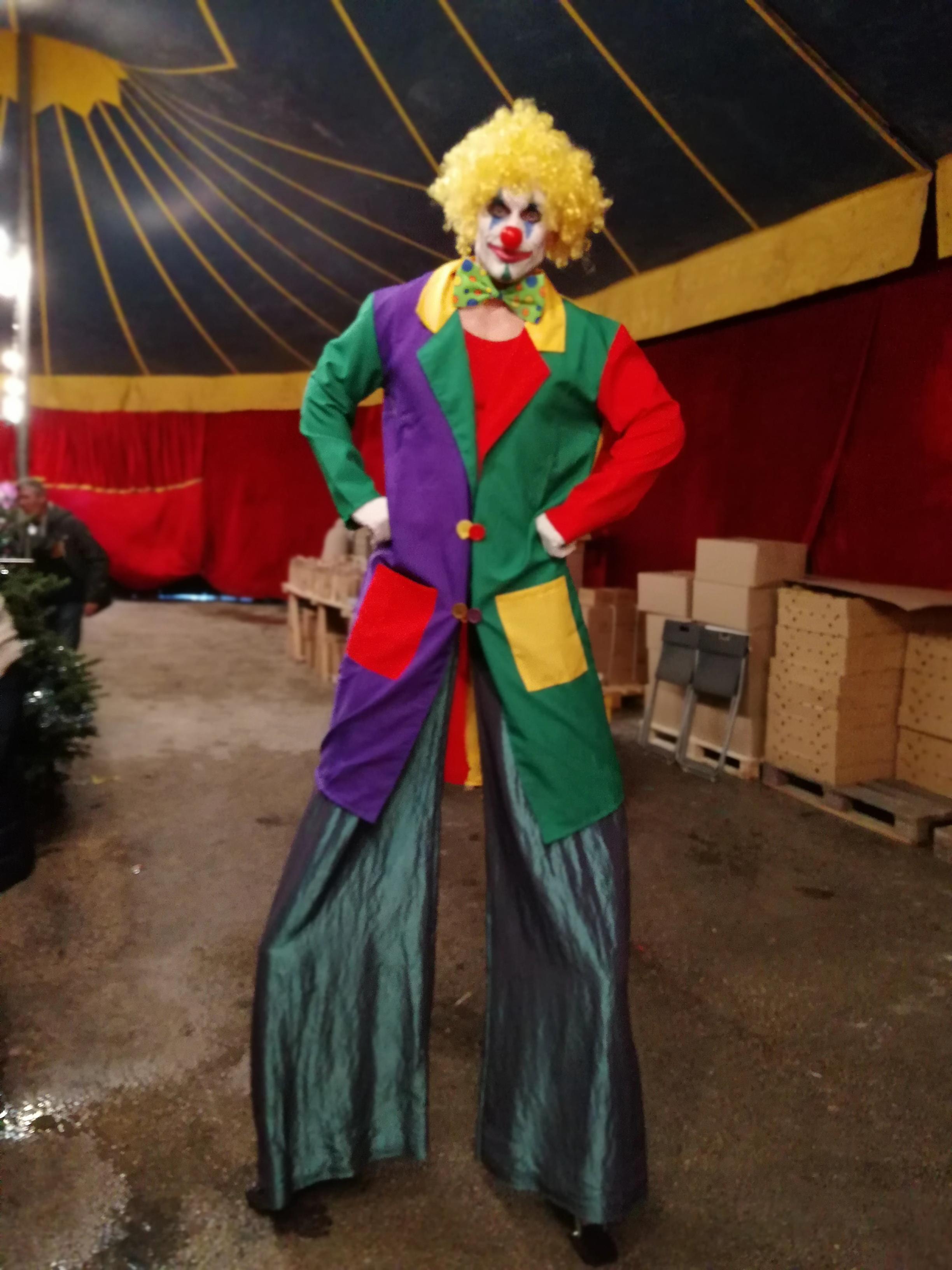 Echassier clown circus