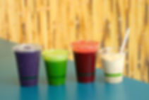 Fresh smoothies, juices, and frostyz from Island Market in Port Aransas