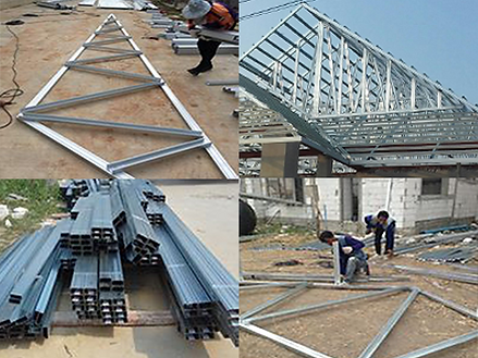 steel-roof-truss การประกอบโครงหลังคา โครงเหล็ก โครงทรัส
