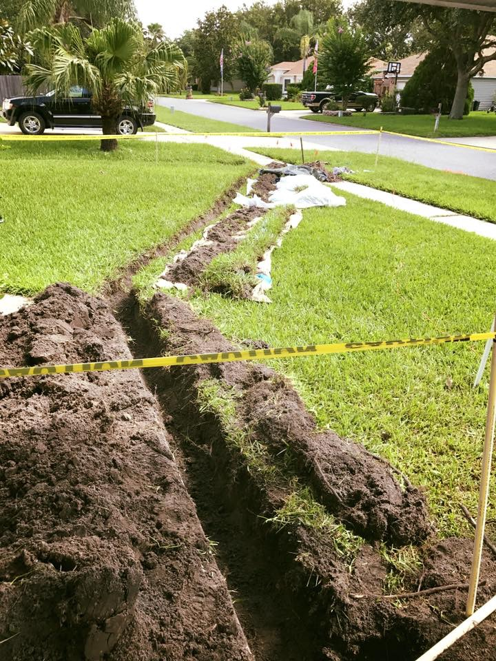 water main service line