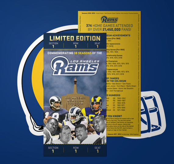 Rams Commemorative Ticket