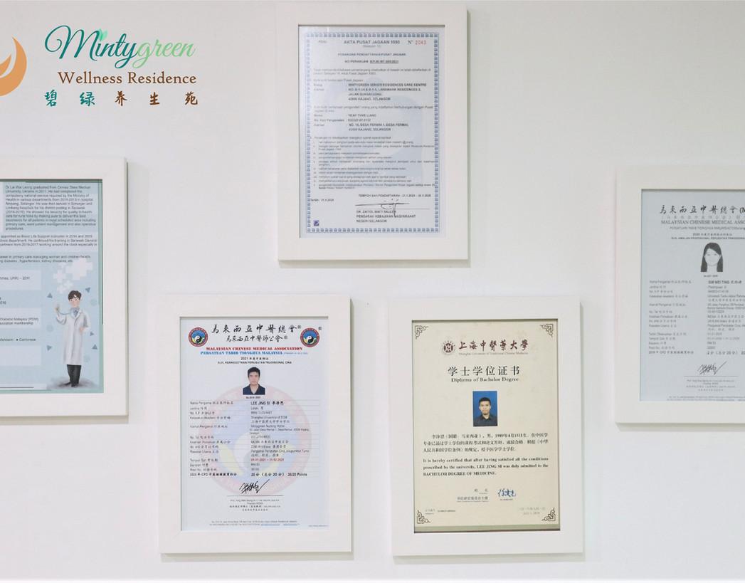 Mintygreen Nursing Home KL Certificate