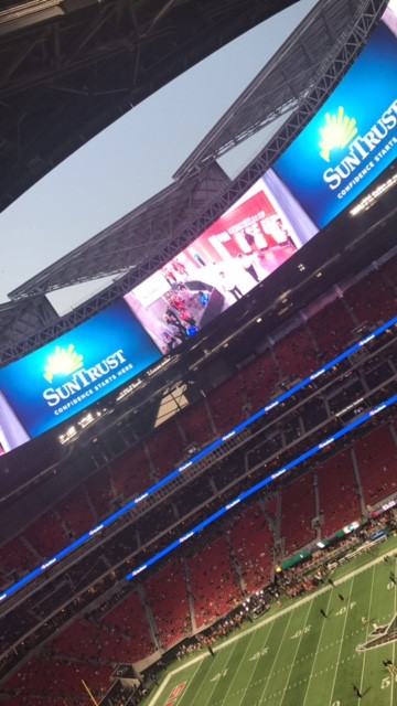 Great Night to Open the New Stadium- #RISEUP # FALCONS