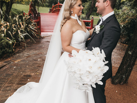 Tamika & Russells Elegant White Wedding
