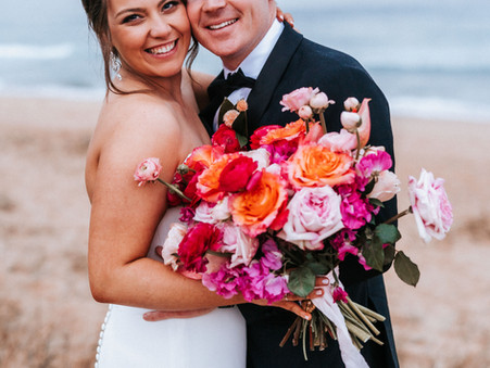 Mikahlia & Tom - A colourful Covid wedding