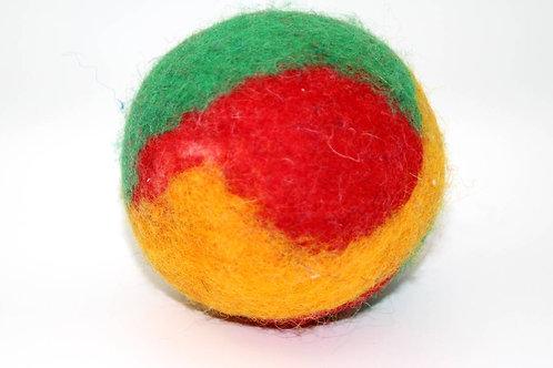 Filzball Grün Rot Orange Gelb ohne Rassel