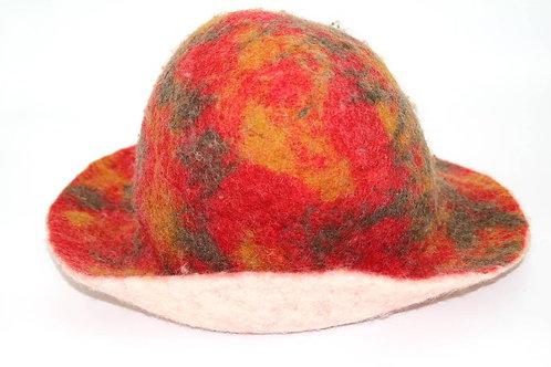 Filzhut Rot-Gelb Grösse: ca. 57