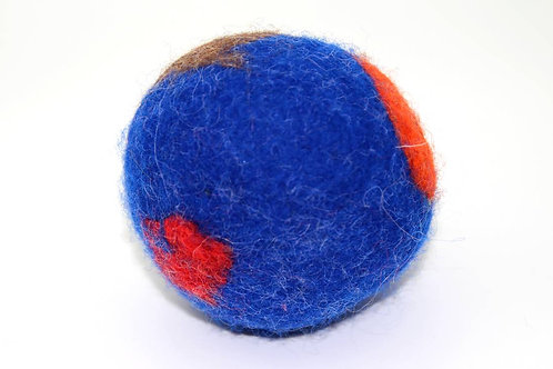 Filzball Dunkelblau Rot ohne Rassel