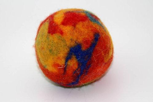 Filzball Rot Orange mit Rassel