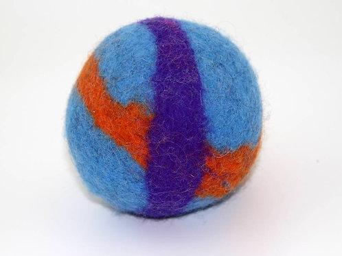 Filzball Hellblau Orange mit Rassel