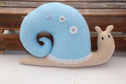 Spieluhrschnecke Agatha hellblau