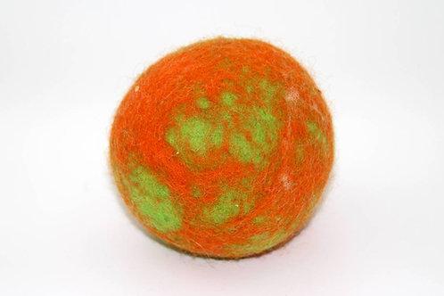 Filzball Orange Grün mit Rassel