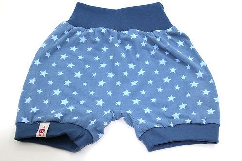 Sommer Hose Sterne Blautöne Grösse 110-116