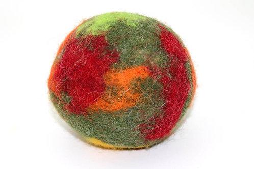 Filzball Grün Rot ohne Rassel