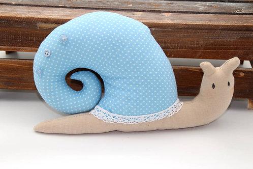 Schnecke Agatha hellblau (ohne Spieluhr)