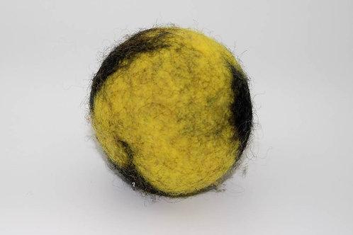 Filzball Gelb Schwarz ohne Rassel