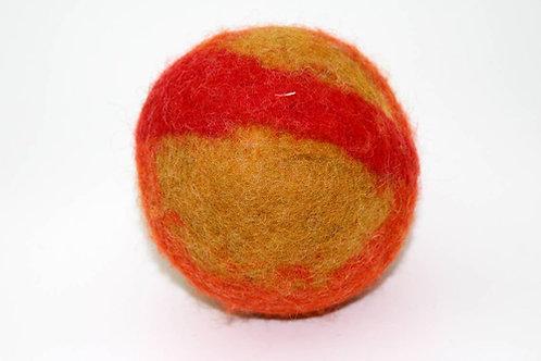 Filzball Ocker Rot mit Rassel