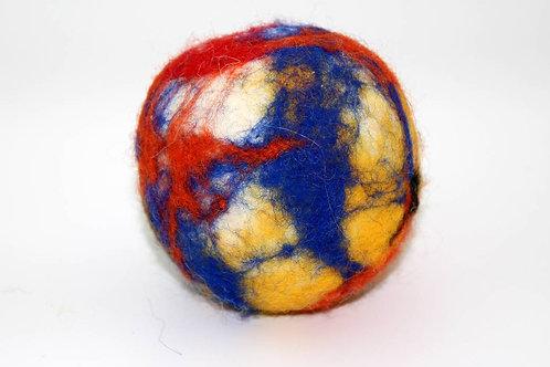Filzball Blau Rot Gelb ohne Rassel