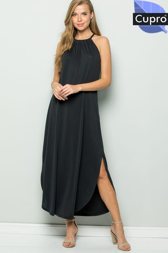 f7bfc32eac2 HALTER MAXI DRESS