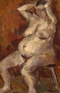 Sitzende Schwangere, 1971